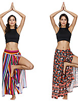 cheap -Women's Yoga Pants Winter Harem Print Black / Red Red+Blue Dance Fitness Gym Workout Bloomers Sport Activewear Lightweight Breathable Quick Dry Soft Stretchy Loose
