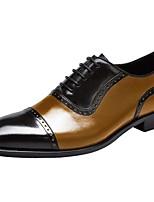 cheap -Men's Comfort Shoes Cowhide Fall & Winter Oxfords Orange / Black