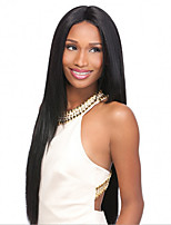 cheap -Synthetic Wig Straight kinky Straight Asymmetrical Wig Long Natural Black Synthetic Hair 27 inch Women's Best Quality Black