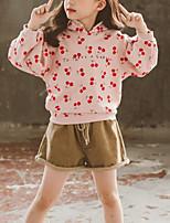 cheap -Kids Girls' Basic Daily Wear Print Long Sleeve Clothing Set Blushing Pink