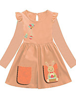 cheap -Kids Girls' Animal Dress Orange