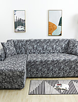 cheap -Luxury Art Floral Print Dustproof All-powerful Slipcovers Stretch L Shape Sofa Cover Super Soft Fabric Couch Cover with One Free Pillow Case