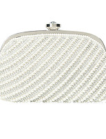 cheap -Women's Chain Polyester Evening Bag Solid Color Black / White / Beige