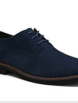 cheap -Men's Comfort Shoes Suede Winter Oxfords Black / Brown / Dark Blue