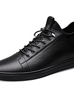 cheap -Men's Comfort Shoes Cowhide Fall & Winter Sneakers Black