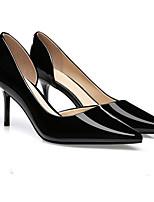 abordables -Femme Chaussures à Talons Talon Aiguille Bout pointu Cuir Verni Minimalisme Marche Printemps & Automne / Printemps été Noir / Chair