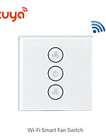 cheap -Wifi switch / smart switch / touch switch / wifi fan switch phone voice wireless remote control/Living Room / Study / Bedroom Cool / Creative / Wireless use Wireless 100-240 V