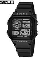 cheap -SYNOKE Digital Watch Digital Sporty Stylish Silicone 30 m Water Resistant / Waterproof Calendar / date / day LCD Digital Outdoor Fashion - Black White Green