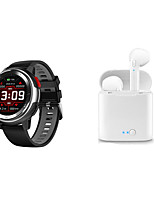 cheap -DT68 Smartwatch Bluetooth Fitness Tracker with Wireless earphones Support Heart Rate Monitor/ Blood Pressure Measurement for Samsung/IOS/ Android Phones