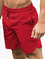 cheap -Men's Running Shorts Split Sports Shorts Running Fitness Jogging Breathable Quick Dry Soft Solid Colored Black Dark Grey Red Army Green Gray / Stretchy