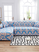 cheap -Royal Luxury Print Dustproof All-powerful Slipcovers Stretch L Shape Sofa Cover Super Soft Fabric Couch Cover with One Free Pillow Case