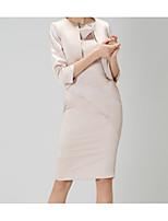 cheap -3/4 Length Sleeve Satin Wedding Women's Wrap With Ruching Shrugs