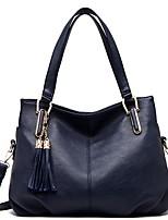 cheap -Women's PU Top Handle Bag Solid Color Black / Brown / Blue