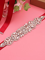 cheap -Satin Wedding / Party / Evening Sash With Imitation Pearl / Appliques / Belt Women's Sashes