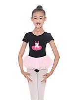 cheap -Kids' Dancewear Leotards Girls' Performance Cotton / Spandex Gore Short Sleeve Natural Leotard / Onesie