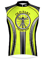 cheap -21Grams Men's Sleeveless Cycling Jersey 100% Polyester Green / Black Bike Jersey Top Mountain Bike MTB Road Bike Cycling UV Resistant Breathable Quick Dry Sports Clothing Apparel / Stretchy