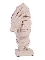 abordables -décor abstrait créatif le visage de la statue du penseur&statues à main sculptures bureau décor de bureau garder le silence figurine