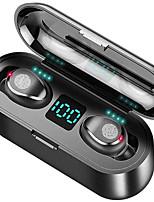 abordables -litbest f9 tws vrais écouteurs sans fil écouteurs sans fil bluetooth 5.0 stéréo antibruit avec boîte de chargement