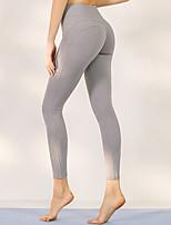 cheap -Women's High Waist Yoga Pants Criss Cross Waist Solid Color Black Dark Blue Light gray Running Fitness Gym Workout Tights Leggings Sport Activewear Breathable Moisture Wicking Butt Lift Tummy Control