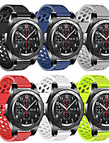 cheap -Sport Silicone Watch Band For Samsung Galaxy Watch 46mm / 42mm / Gear S3 Classic / Frontier / Galaxy Watch Active 2 40mm/44mm / Gear S2 Classic / Gear Sport Replaceable Bracelet Wrist Strap Wristband