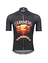 cheap -21Grams Men's Short Sleeve Cycling Jersey 100% Polyester Dark Navy Bike Jersey Top Mountain Bike MTB Road Bike Cycling UV Resistant Breathable Quick Dry Sports Clothing Apparel / Stretchy / Race Fit