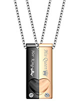 cheap -Men's Pendant Necklace Classic Mini Simple Stainless Steel Black Rose Gold 50 cm Necklace Jewelry 1pc For Daily