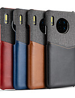 cheap -Case For Huawei P20 / Huawei P20 Pro / Huawei P30 Card Holder / Shockproof / Ultra-thin Back Cover Solid Colored Genuine Leather / Canvas Splice