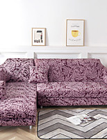 cheap -Burgundy Print Dustproof All-powerful Slipcovers Stretch Sofa Cover Super Soft Fabric Couch Cover with One Free Pillow Case
