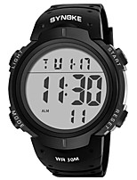 cheap -SYNOKE Digital Watch Digital Sporty Stylish Silicone 30 m Water Resistant / Waterproof Calendar / date / day LCD Digital Outdoor Fashion - Black Black / White Black / Blue