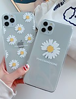 cheap -Case For Apple iPhone 11 / iPhone 11 Pro / iPhone 11 Pro Max Ultra-thin / Transparent / Pattern Back Cover Word / Phrase / Transparent / Flower TPU