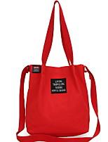 cheap -Women's Zipper Canvas Top Handle Bag Solid Color Blue / Red / Gray
