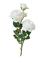 cheap -Silk Artificial Fake Western Rose Flower Peony Bridal Bouquet Wedding Classic European Style High Realistic Appearance