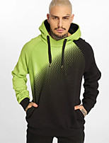 cheap -Men's Hoodie Hoodie & Sweatshirt Running Active Training Jogging Breathable Soft Sweat-wicking Sportswear Color Gradient Hoodie Long Sleeve Activewear Stretchy