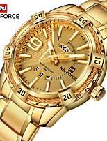 cheap -NAVIFORCE Men's Dress Watch Quartz Formal Style Stylish 30 m Water Resistant / Waterproof Calendar / date / day New Design Analog Luxury Fashion - Black Black / Rose Gold Gold