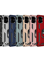 cheap -Case For Samsung Galaxy S9 / S9 Plus / Note 9 Shockproof / Ring Holder Back Cover Solid Colored TPU / PC