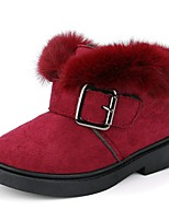 cheap -Girls' Snow Boots Pigskin Boots Big Kids(7years +) Black / Burgundy / Red Winter / Booties / Ankle Boots