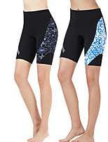 cheap -Dive&Sail Women's Wetsuit Shorts 1.5mm CR Neoprene Diving Suit Bottoms Anatomic Design Half Sleeve Patchwork Autumn / Fall Spring Summer / High Elasticity