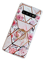 cheap -Case for Samsung scene map Samsung Galaxy S20 S20 Plus S11 Plus A50 A70 ProStitching retro flower pattern electroplated diamond TPU material IMD process Ring stand all-inclusive mobile phone case