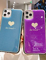 cheap -Case For Apple iPhone 11 / iPhone 11 Pro / iPhone 11 Pro Max Ultra-thin / Pattern Back Cover Word / Phrase / Solid Colored TPU