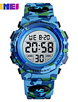cheap -SKMEI Smartwatch Digital Modern Style Sporty Silicone 30 m Water Resistant / Waterproof Calendar / date / day Casual Watch Digital Casual Fashion - Green Dark Blue Light Blue
