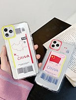 cheap -Case for Apple scene map iPhone 11 X XS XR XS Max 8 Air ticket pattern High penetration Thicken TPU Texture 6D Transliteration Air pressure Anti-fall All-inclusive phone case Chuangxin