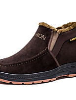 cheap -Men's Comfort Shoes Mesh Fall & Winter Boots Booties / Ankle Boots Black / Khaki