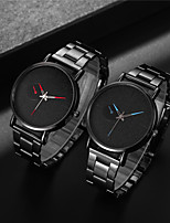 cheap -Men's Dress Watch Quartz Formal Style Modern Style Stainless Steel Black / Silver 30 m Shock Resistant Casual Watch Large Dial Analog - Digital Classic Fashion - Rose Gold Silver Burgundy Two Years