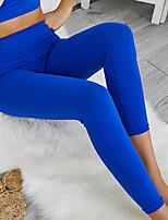 cheap -Women's High Waist Yoga Pants Winter Pocket Solid Color Black Dark Grey Purple Light Green Orange Running Fitness Gym Workout Tights Leggings Sport Activewear Moisture Wicking Butt Lift Tummy Control