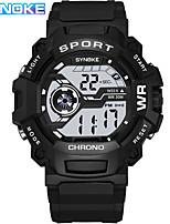 cheap -SYNOKE Digital Watch Digital Sporty Stylish Silicone 30 m Water Resistant / Waterproof Calendar / date / day LCD Digital Outdoor Fashion - Black Black / White Black / Blue