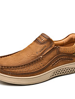 cheap -Men's Formal Shoes Nappa Leather Spring / Fall & Winter Casual / British Loafers & Slip-Ons Non-slipping Brown / Coffee / Khaki