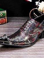 abordables -Homme Chaussures Formal Cuir Nappa Printemps été / Automne hiver Classique / Britanique Oxfords Ne glisse pas Arc-en-ciel / Soirée & Evénement
