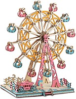cheap -3D Puzzle Wooden Puzzle Ferris Wheel Simulation Hand-made Wooden 295 pcs Kid's Adults' All Toy Gift