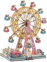 abordables -Puzzles 3D Puzzles en bois Grande roue Simulation Fait à la main En bois 295 pcs Enfant Adulte Tous Jouet Cadeau