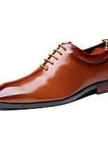 cheap -Men's Formal Shoes Leather Spring & Summer / Fall & Winter Business / Casual Oxfords Breathable Black / Wine / Yellow